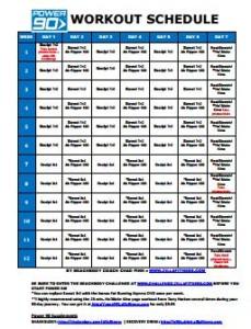 power 90 workout schedule zillafitness