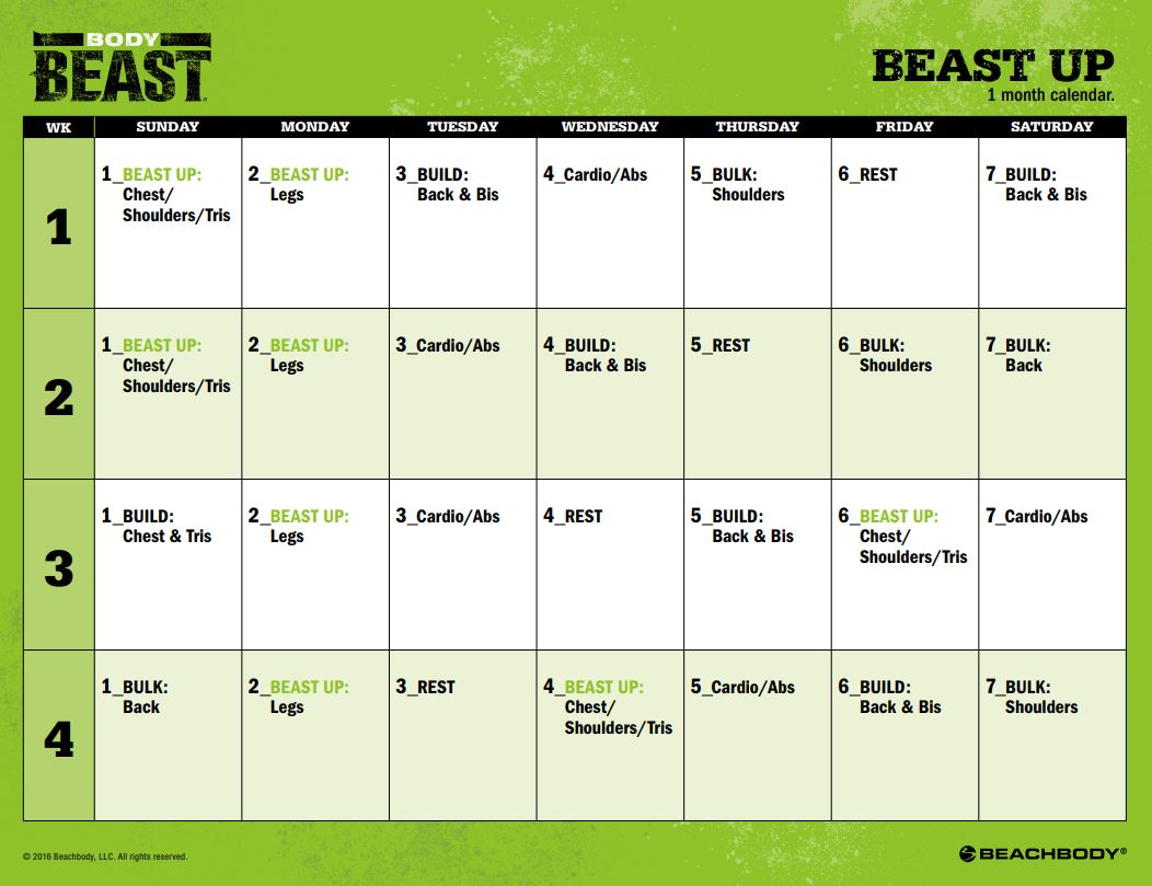 Crush image inside body beast schedule printable