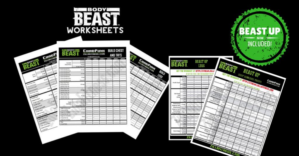Body Beast Workout Sheets zillafitness – Beachbody Worksheets